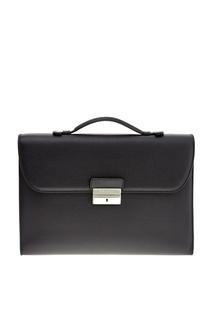 Сумка-портфель черного цвета Canali