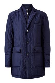 Стеганая куртка с отложным воротником Canali
