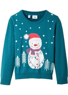 Кофты и толстовки Пуловер с новогодним рисунком Bonprix