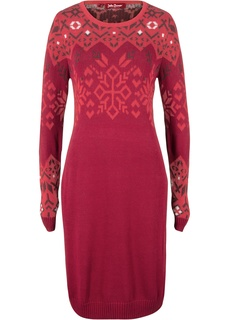Короткие платья Платье вязаное с норвежским узором Bonprix