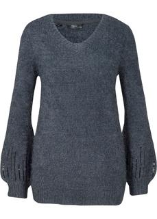 Пуловеры Пуловер вязаный с круглым вырезом горловины Bonprix