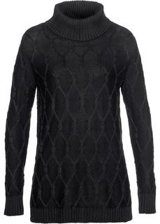 Водолазки Пуловер с узором косичка Bonprix