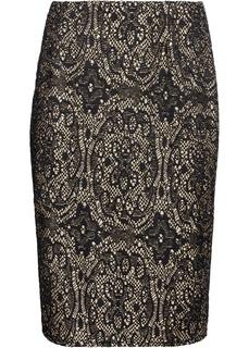 Короткие юбки Юбка-карандаш в кружевном дизайне Bonprix