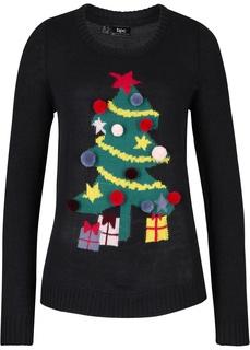 Пуловеры Новогодний пуловер ёлочка Bonprix