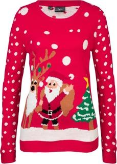 Пуловеры Пуловер с новогодним мотивом Bonprix