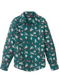 Костюмы и рубашки Рубашка с новогодним принтом Bonprix