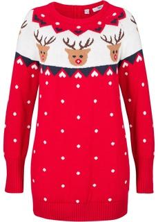 Пуловер с новогодним мотивом Bonprix