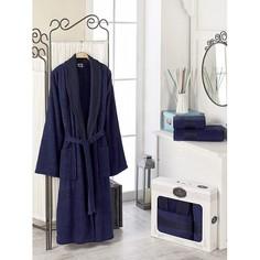 Халат мужской с полотенцами (48/50(RUSсм) XL(INTсм)см) Do&Co