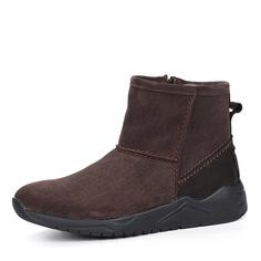 Ботинки Коричневые ботинки из велюра на шерсти Respect
