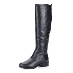 Черные кожаные сапоги на шерсти Francesco Donni