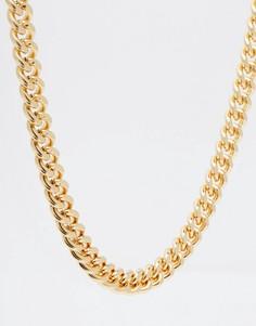Золотистая цепочка ASOS DESIGN-Золотой