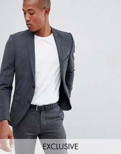 Супероблегающий пиджак Selected Homme-Серый