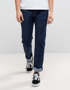 Темные джинсы прямого кроя с классической талией Levis Original 501-Синий