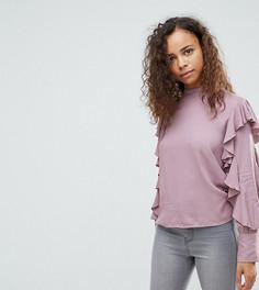 Топ с оборками Vero Moda Petite-Фиолетовый
