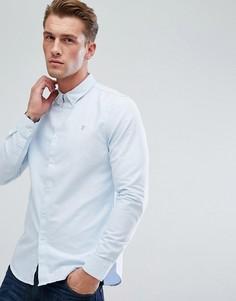 Синяя облегающая оксфордская рубашка Farah Brewer-Синий