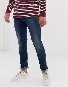 Темные эластичные джинсы зауженного кроя Diesel Thommer 084BU-Синий