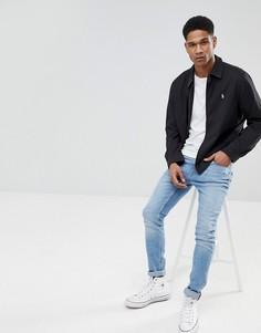 Черная куртка Харрингтон Polo Ralph Lauren-Черный