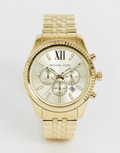 Золотистые часы с хронографом Michael Kors MK8281 Lexington-Золотой