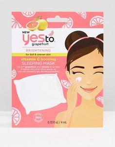 Освежающая маска для лица с витамином С и экстрактом грейпфрута Yes To-Бесцветный