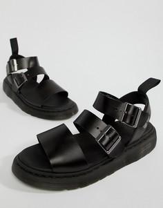 Черные сандалии с ремешками Dr Martens-Черный
