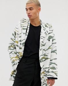 Длинная куртка с камуфляжным принтом Maharishi-Зеленый