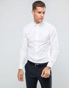 Белая облегающая строгая рубашка из легко гладящейся ткани Selected Homme-Белый