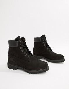 Черные классические ботинки премиум-класса высотой 6 дюймов Timberland-Черный