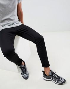 Черные джинсы скинни River Island-Черный