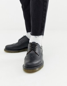 Черные броги Dr Martens 3989-Черный