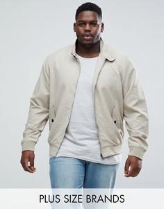 Куртка Харрингтон с подкладкой Brave Soul PLUS-Светло-бежевый