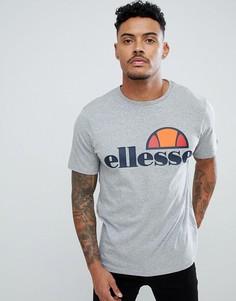 Серая футболка с большим логотипом ellesse - Prado-Серый