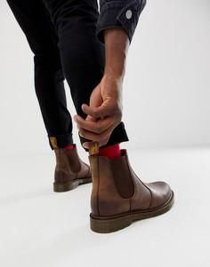 Коричневые ботинки челси Dr.Martens 2976-Коричневый