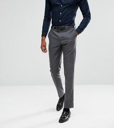 Фланелевые брюки суженного книзу кроя Noak Tall-Серый