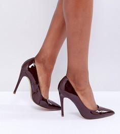 Туфли-лодочки цвета эспрессо для широкой стопы на высоком каблуке с заостренным носком ASOS DESIGN Paris-Коричневый