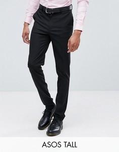 Черные брюки скинни ASOS DESIGN Tall-Черный
