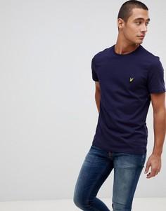 Темно-синяя футболка с логотипом Lyle & Scott-Темно-синий