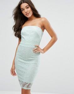 Платье-футляр с цветочной вышивкой Lipsy-Зеленый