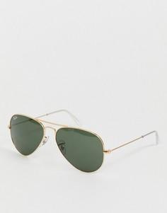 Солнцезащитные очки-авиаторы Ray-Ban 0rb3025-Золотой
