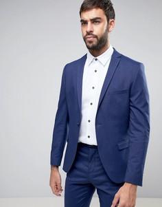 Супероблегающий пиджак Selected Homme-Темно-синий