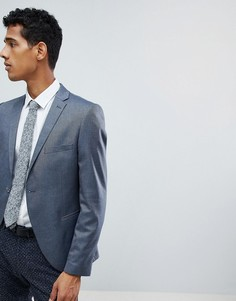 Пиджак узкого кроя в крапинку Selected Homme-Синий