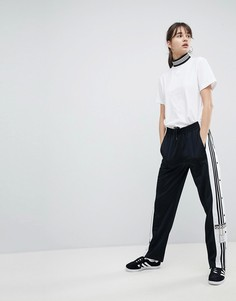 Черные спортивные штаны с кнопками по бокам adidas Originals adicolor-Черный