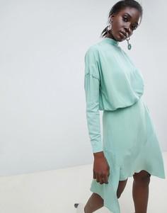 Платье мини ASOS WHITE-Зеленый