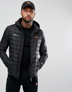 Черная дутая куртка ellesse Lombardy-Черный цвет