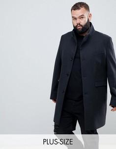 Пальто с воротником-стойкой Noose & Monkey PLUS-Серый