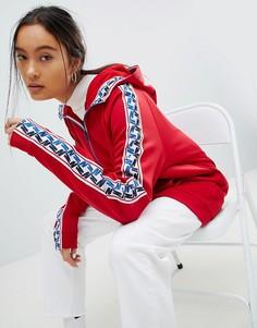 Красная спортивная куртка с молнией и отделкой лентой Nike-Красный