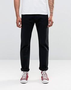 Черные прямые джинсы с классической талией Levis Original 501-Черный