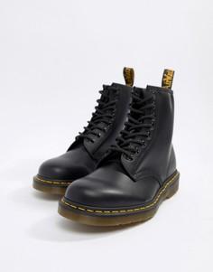 Черные ботинки с 8 парами люверсов Dr Martens 1460 11822006-Черный