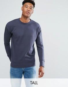 Свитшот с заниженной линией плеч Selected Homme-Темно-синий
