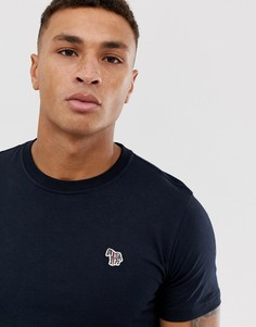 Темно-синяя футболка узкого кроя с логотипом-зеброй PS Paul Smith-Темно-синий