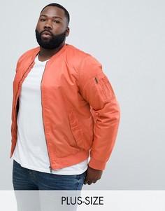 Бомбер с карманом Ma1 Brave Soul PLUS-Оранжевый